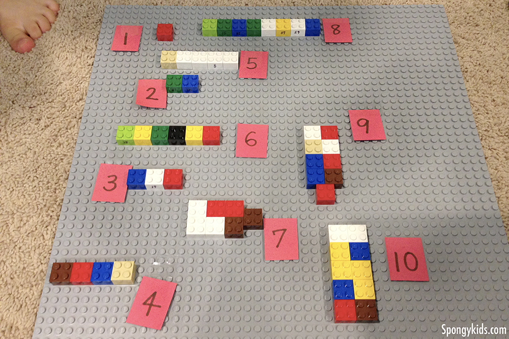 LEGO Math Activities for Kids: Counting Numbers