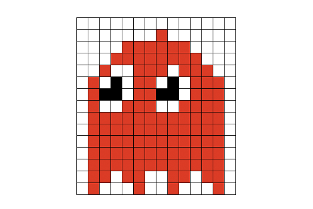 Pac Man Ghost Iron Beads (Perler Beads) Pattern