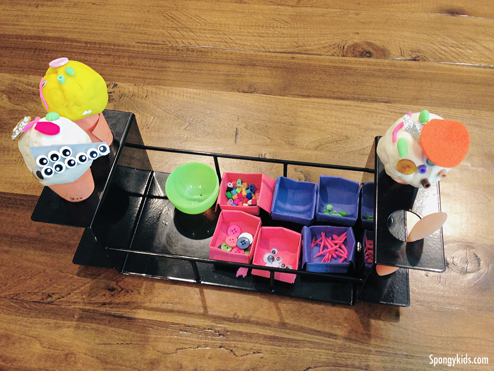 At-home activities for kids: Playdoh ice cream shop