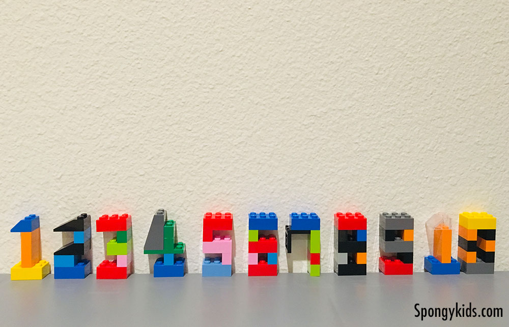 Counting Numbers 1 to 10 with Lego