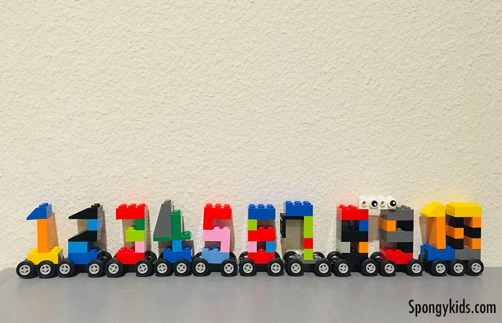 Counting Numbers 1 to 10 with Cars Lego cars