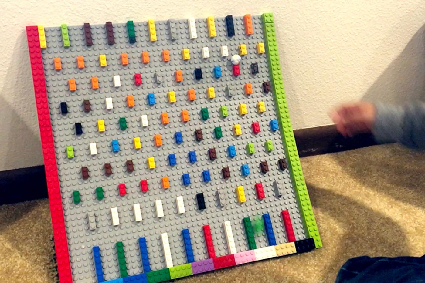Making bean Machine (Galton board) with Lego