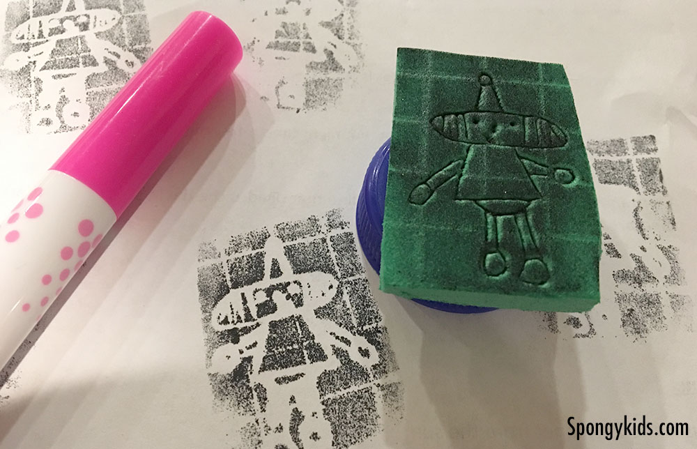 Foam Stamps - Free and Low-Cost Activities for Kids to Do at Home