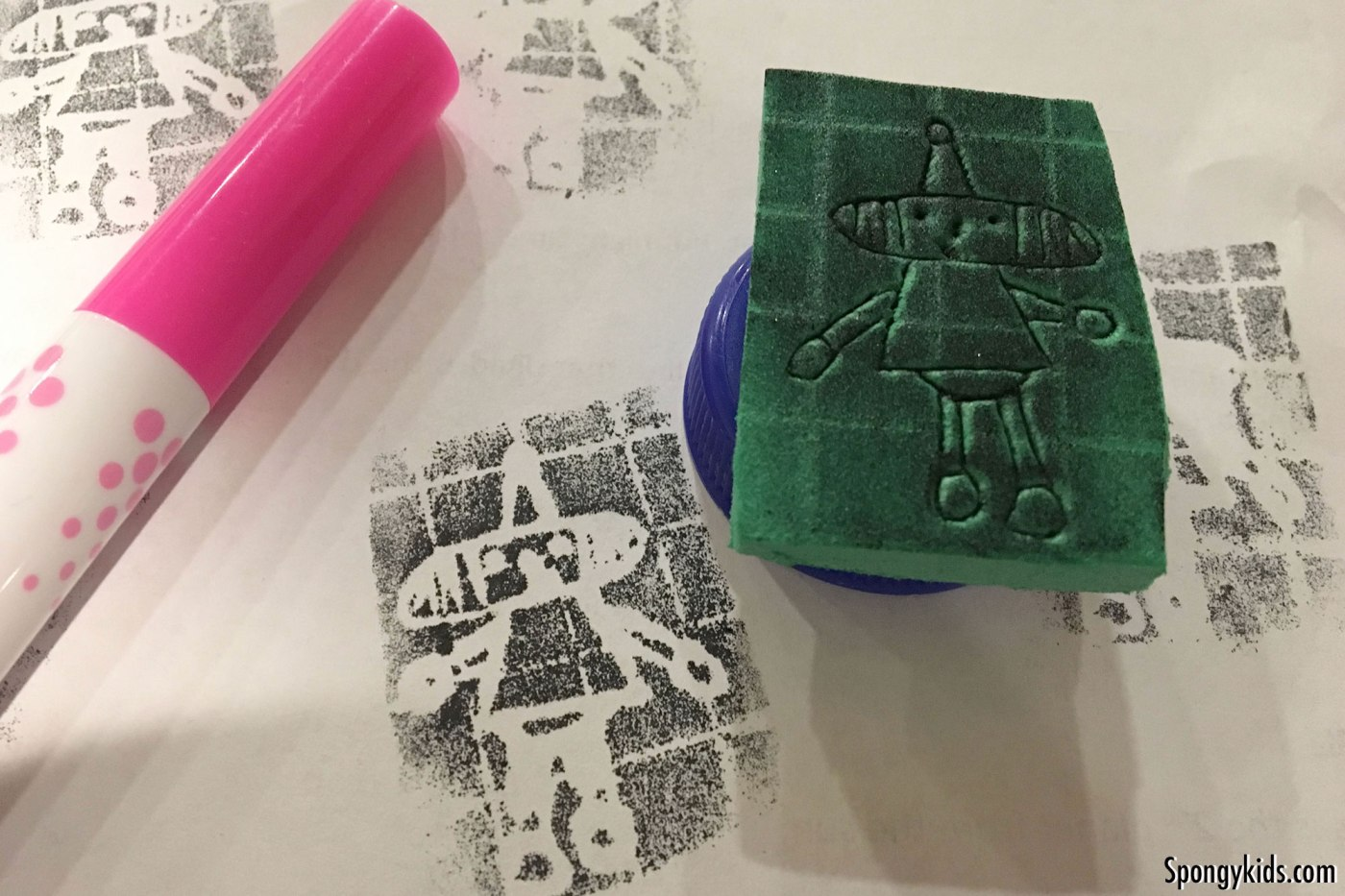 DIY with Kids: How to make foam stamps