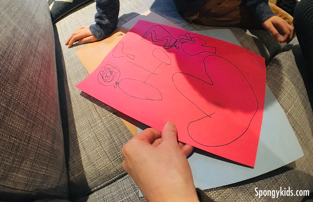 Body Tracing (Making organs) Learning about the Human Body with Kids