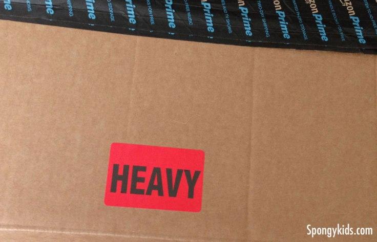 """Heavy"" on the cardboard box"