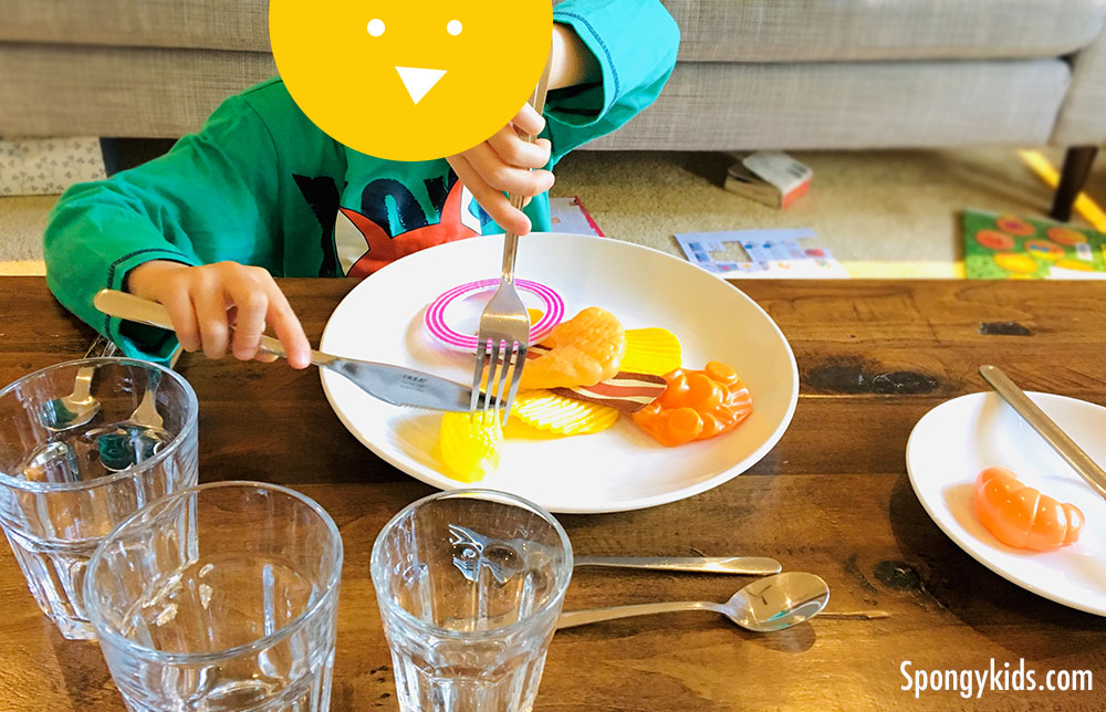 Table Setting and Table Manners with food toys!