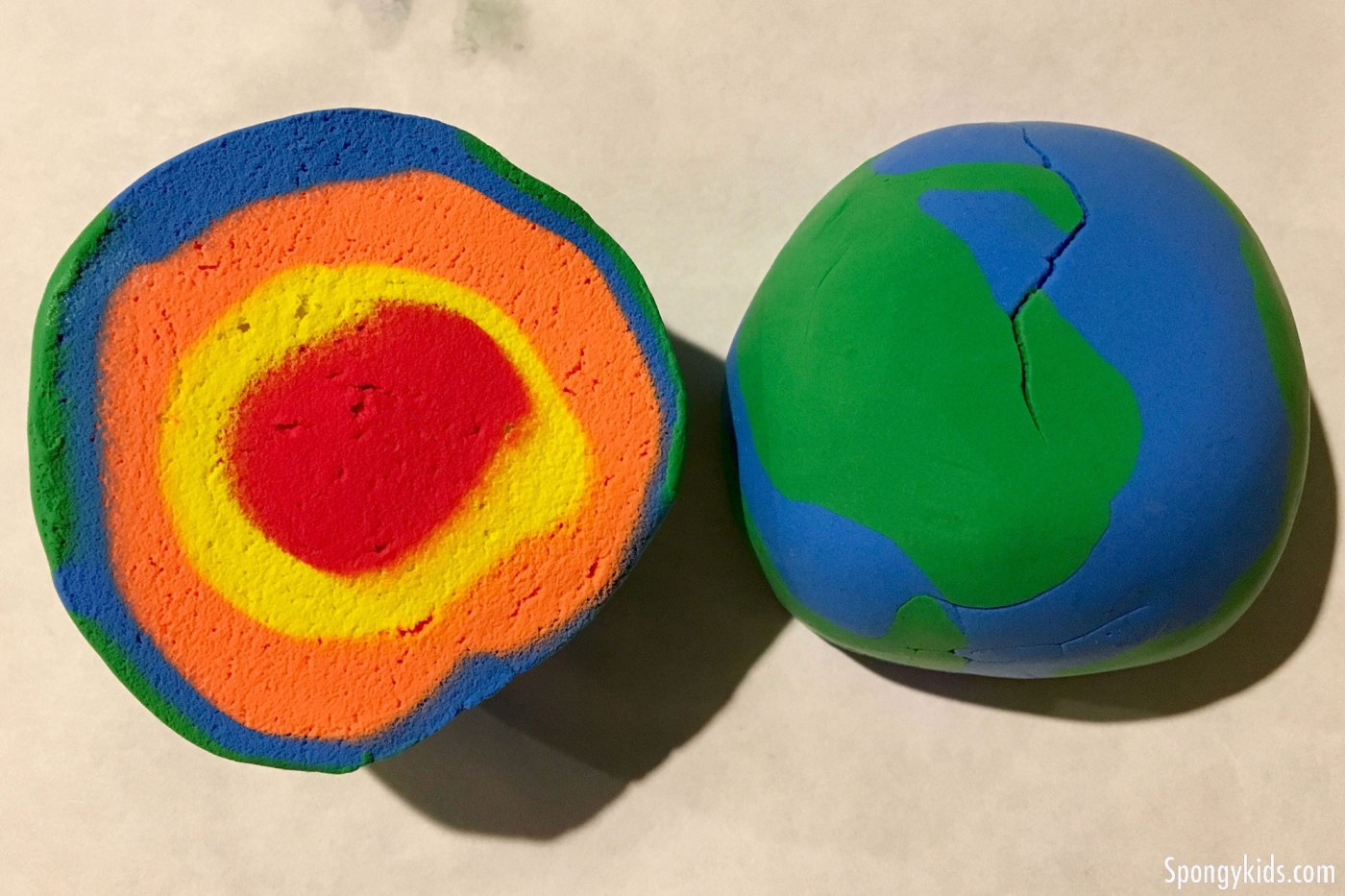 DIY: How to make a model of layers of the Earth with Play doh