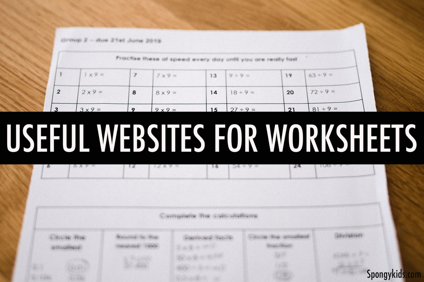 Useful Websites for Worksheets