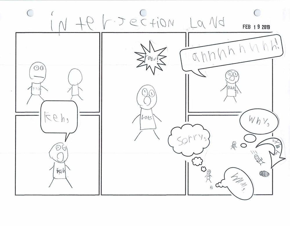 Interjections for Kids Comic Activity