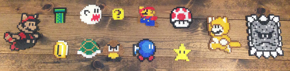 Introducing Perler Beads for Little Kids The Mario Series ornaments