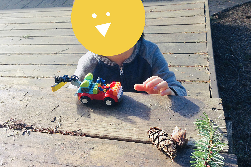 LEGO Activities for Kids: Playing Outside with LEGO trucks