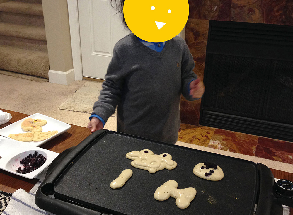 Pancake Art with Kids