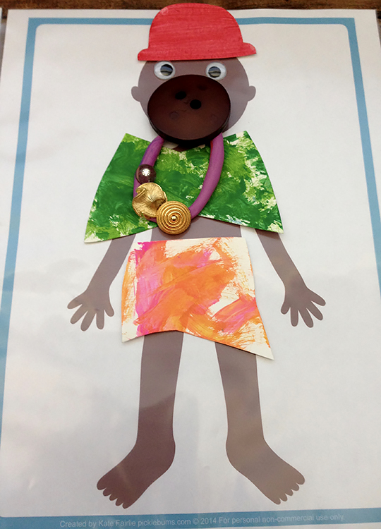 Pretend Play for Kids: Fashion Designer Designed paper buttons and Play doh