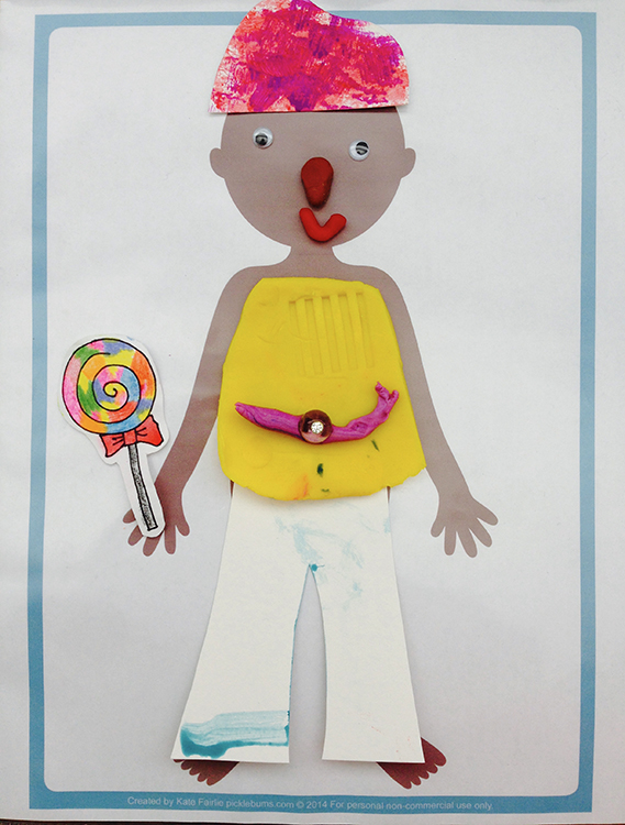 Pretend Play for Kids: Fashion Designer Designed paper and Play doh