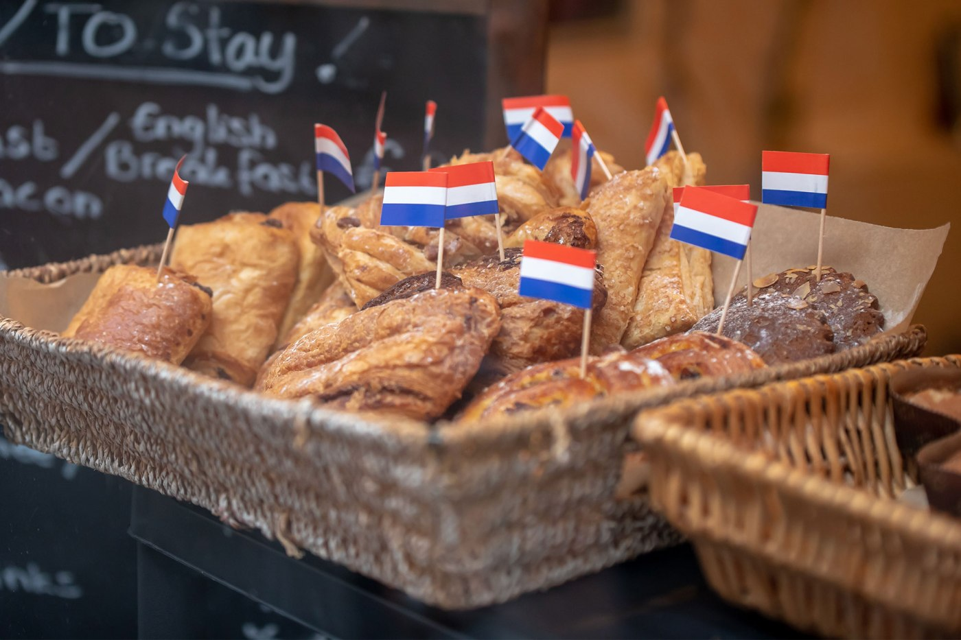 Toothpick Flags on the pastries