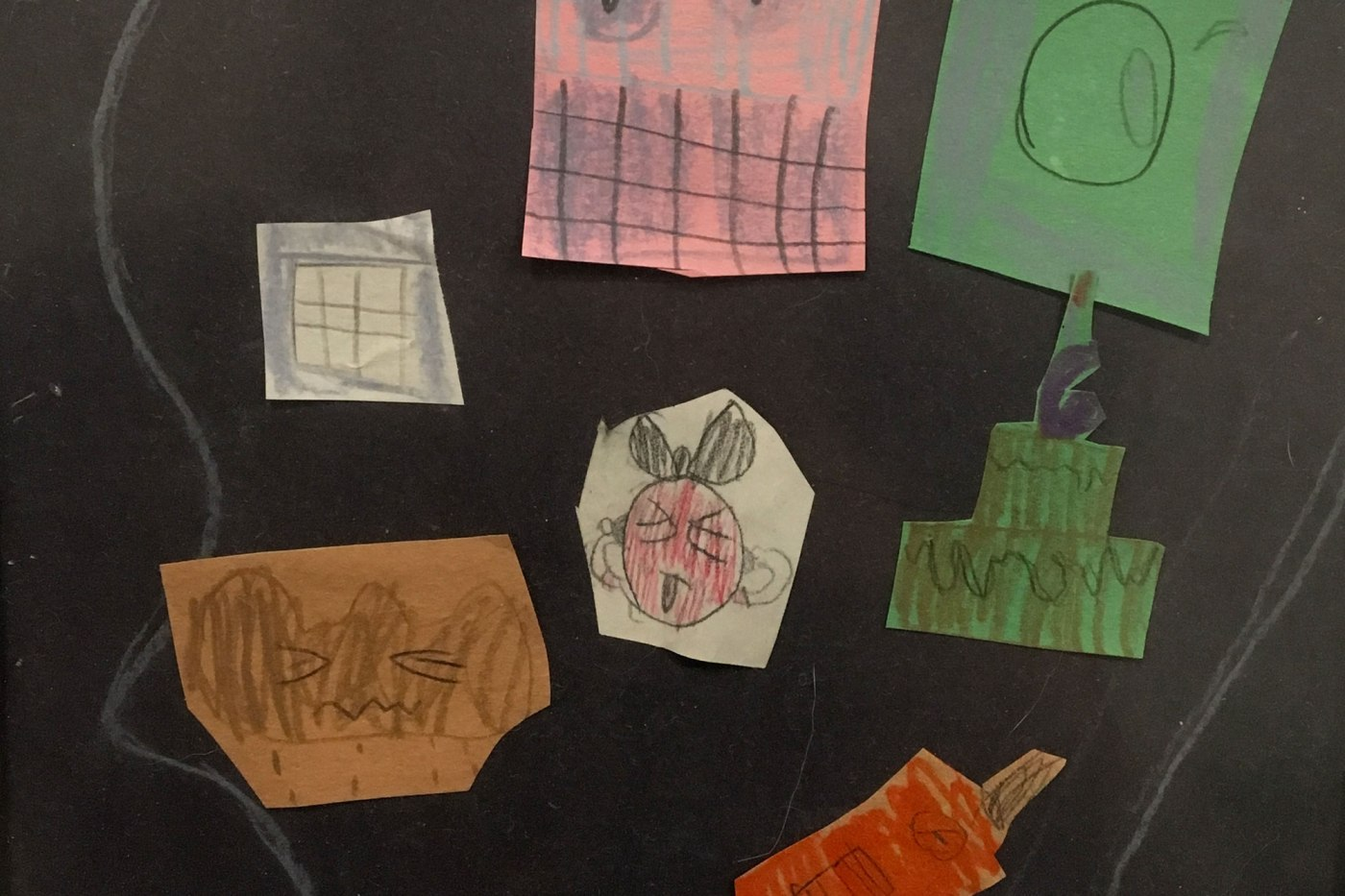 Art Activity idea for kids Head Collage and Drawing