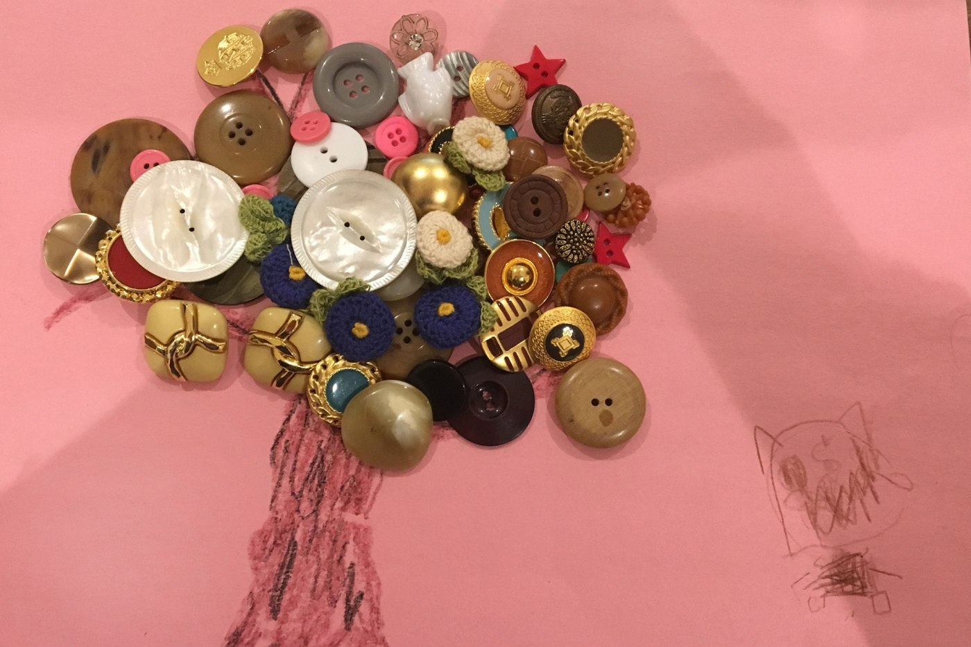 Button tree art and craft activity for kids_ Spongykids