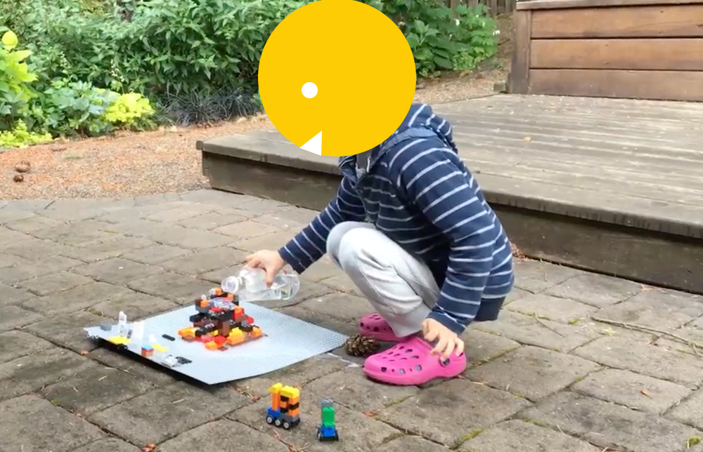 Lego Volcano: Introducing Chemical Reaction with vinegar and baking soda