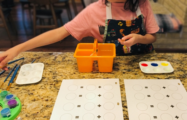 Mixing color activity for kids_spongykids
