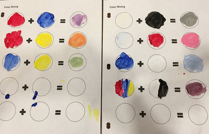 Mixing color activity