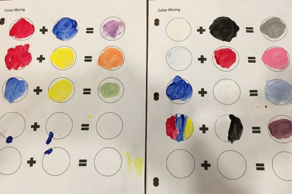 Mixing color activity Result