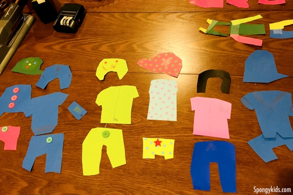 Design Your Own Clothes with Paper for kids